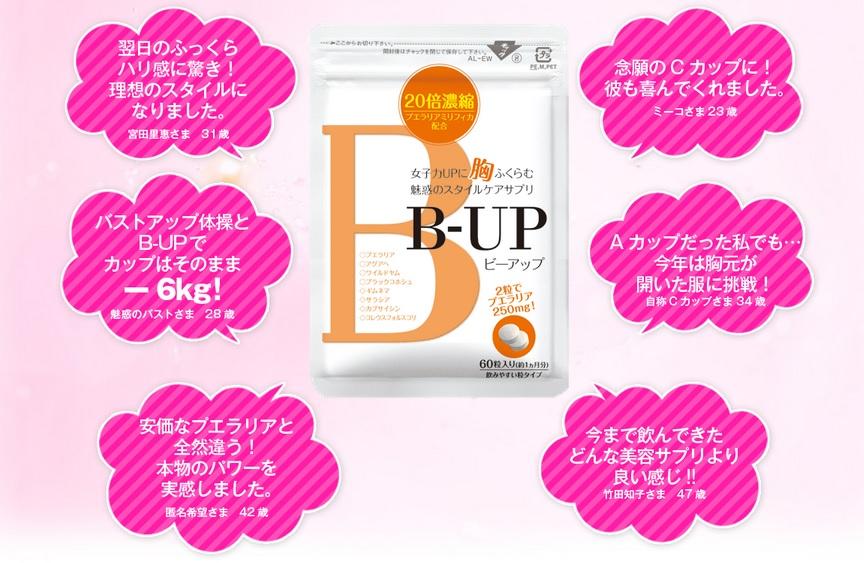 B-UP(ビーアップ)は効果ない?口コミやブログで話題の痩せながらバストアップできるサプリ『B-UP(ビーアップ)』について